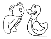 Duck Coloring Page 9