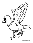 Eagle Coloring Page 3