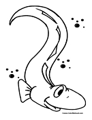 Eel Coloring Pages