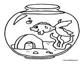 Toon Fish in a Bowl Coloring Page - A Kids Heart