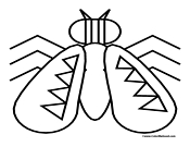 Fly Coloring Page 4
