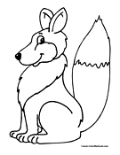 Fox Coloring Page 1