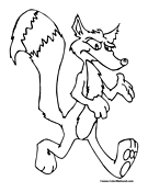 Fox Coloring Page 2