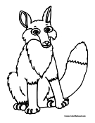 Fox Coloring Page 3