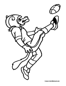 Fox Football Coloring Page