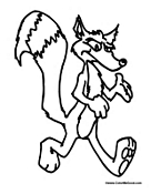 Cartoon Fox Walking