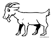 Goat Coloring Page 5