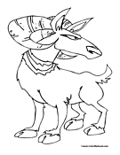 Goat Coloring Page 6