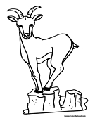 Goat Coloring Page 8