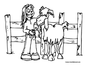 Goat Coloring Page 11
