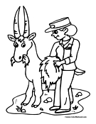 Goat Coloring Page 12