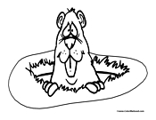gopher coloring page 2