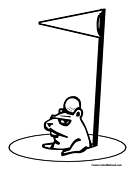 gopher coloring page 4