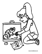 Hamster Coloring Page 1