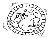 Hamster Coloring Page 2