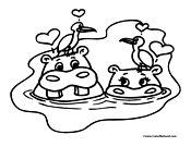 Hippo Coloring Page 6
