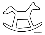 Basic Rocking Horse Outline