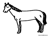Basic Horse Outline