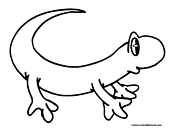 Lizard Coloring Page 9