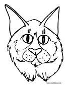 Lynx Coloring Page 2