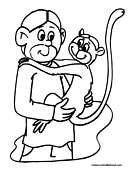 Monkey Coloring Page 5