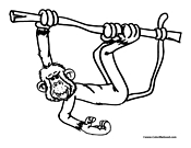 Monkey Coloring Page 13