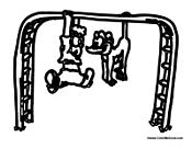 Boy On Monkey Bars