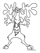 Moose Coloring Page 2