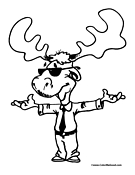Moose Coloring Page 3