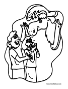 Moose Coloring Page 4