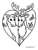 Moose Coloring Page 5