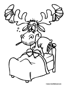 Moose Coloring Page 6