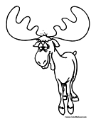 Moose Coloring Page 7