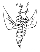 Mosquito Coloring Page 1