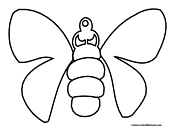 moth coloring page 4