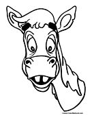 Mule Coloring Page 1