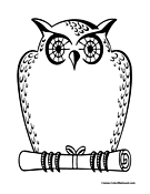 Owl Coloring Page 5
