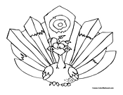 Peacock Coloring Page 1