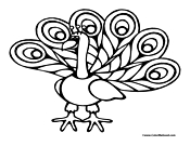 Peacock Coloring Page 2
