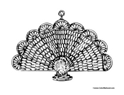Peacock Coloring Page 3