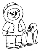 Penguin Coloring Page 1