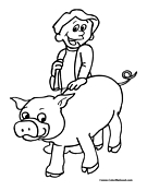 Pig Coloring Page 2