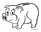 Piggy Bank Coloring Page 3