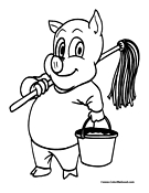 Porky Pig Coloring Page 4