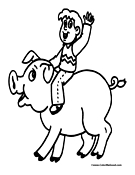 Pig Coloring Page 10