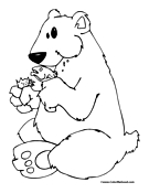 Polar Bear Coloring Page 2