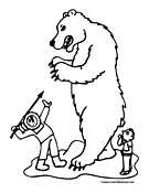 Polar Bear Coloring Page 4