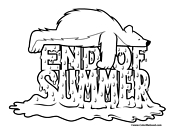 End of Summer Coloring Page