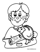 Porcupine Coloring Page 2