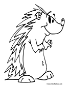 Porcupine Coloring Page 3